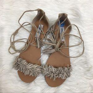 Steve Madden Lace Up Flat Sandals Size 6.5
